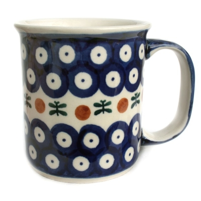 Polish Pottery Mug Straight Pattern Garland