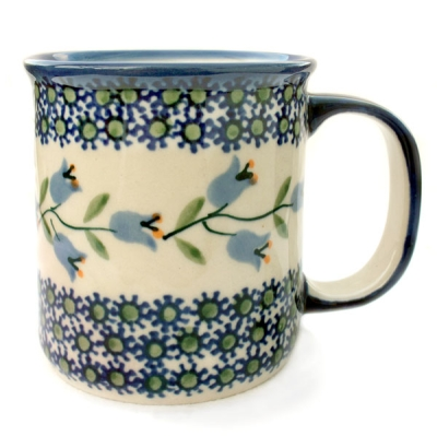 Polish Pottery Mug Straight - Pattern Agnes
