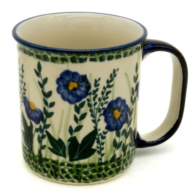 Polish Pottery, straight mug, (l) handle