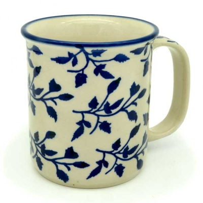 Polish Pottery Mug Straight Pattern Lisa