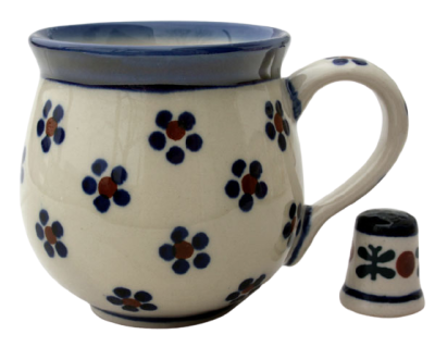 Polish Pottery Belly Mug (s) in Pattern Margaret