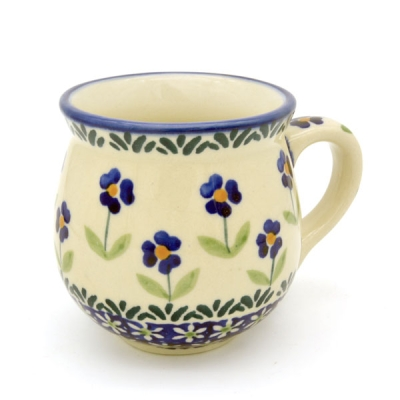 Polish Pottery Mug Round (s) Pattern Angelika