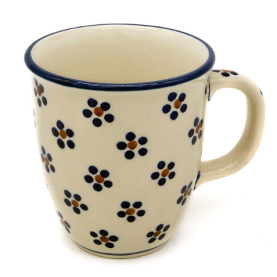 "Polish Pottery Mug ""Mars"" Margaret Pattern"