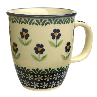 "Polish Pottery ""Mars"" Mug Pattern Angelika"
