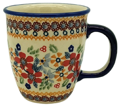 "Polish Pottery mug ""Mars"" flower field design"