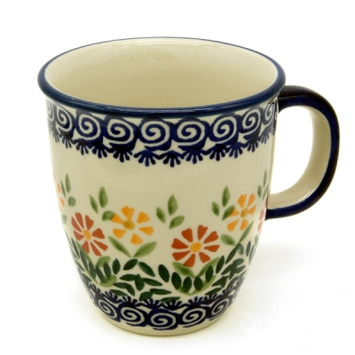 "Polish Pottery ""Mars"" Mug - Pattern Adelheid"