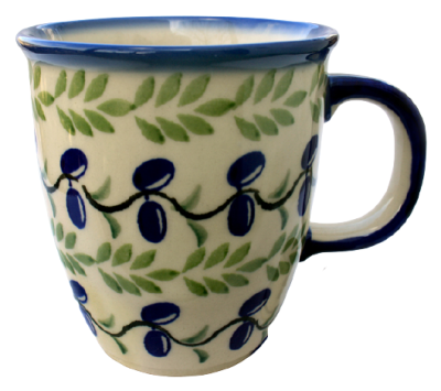 "Polish Pottery ""Mars"" Mug Pattern Olives"