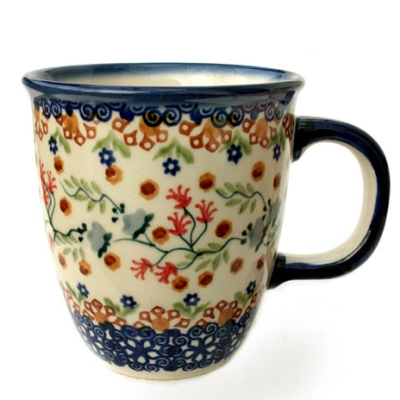 "Polish Pottery mug ""Mars"" Florac design"