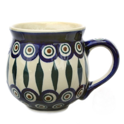 Polish Pottery belly mug medium size