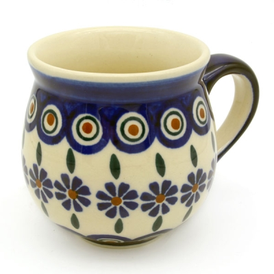 Polish Pottery Mug Round (m) in Pattern Polish Flower