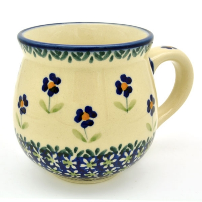 Polish Pottery belly mug medium size, angelika design - 2.Qual