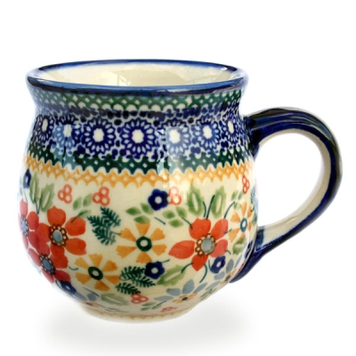 Polish Pottery belly mug medium size Cornelia design