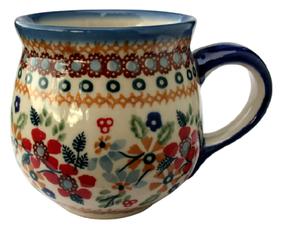 Polish Pottery Mug round (m)  Pattern Flower Meadow
