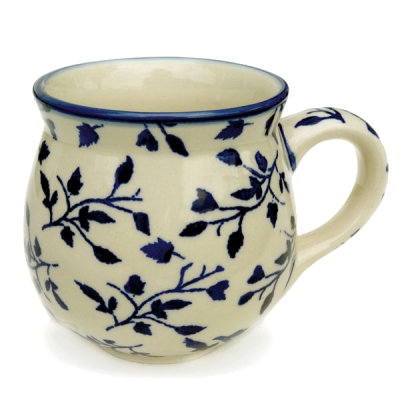 Polish-Pottery-belly-mug-medium-size-traditional-design-garland