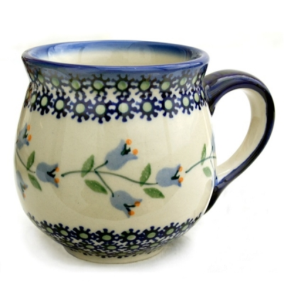 Polish Pottery Mug (m) - Pattern Agnes