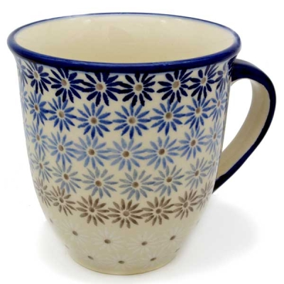 "Polish Pottery ""Mars"" Mug (l) - Pattern Aster"