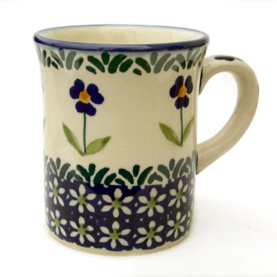 Polish Pottery Childrens Mug in Pattern Angelika