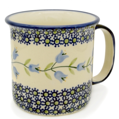 Polish Pottery Mug Straight (l) - Pattern Agnes