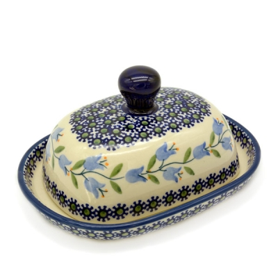 Polish Pottery Butterdish (s) - Pattern Agnes
