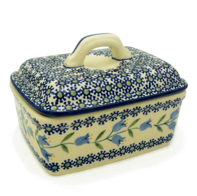 Polish Pottery Butter Box - Pattern Agnes