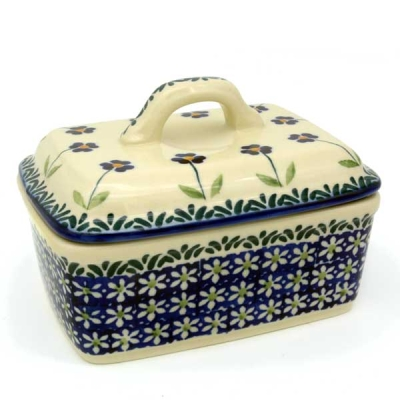Polish Pottery butter box angelika design