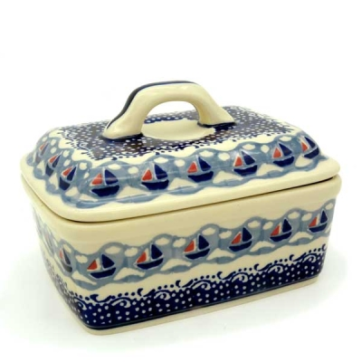 Polish Pottery Butterbox - Pattern Ahoi