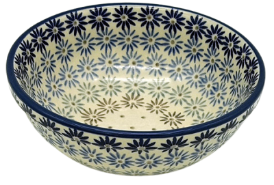 Polish Pottery cereal bowl small aster design