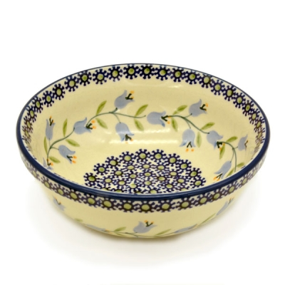 Polish Pottery Cereal Bowl - Pattern Agnes