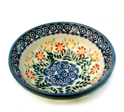 Polish Pottery Cereal Bowl - Pattern Adelheid