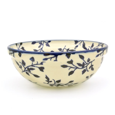 Polish-Pottery-cereal-bowl-small-bluespot-design