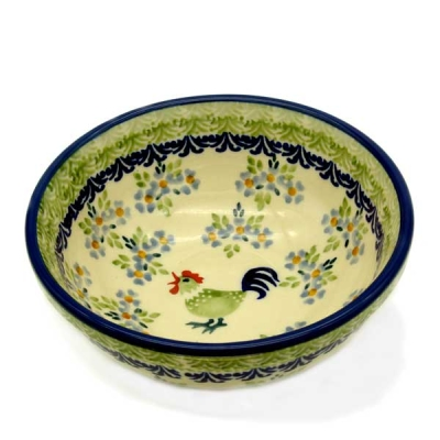 Polish Pottery Meusli Bowl - Pattern Bianca