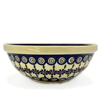 Polish Pottery Salad Bowl Bunzlauer Blume design