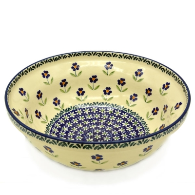 Polish Pottery Salad Bowl angelika design