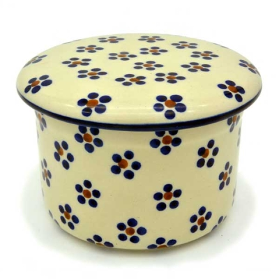 Polish Pottery Fresh Butter Butterdish - Pattern Margarete