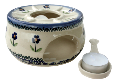 Polish Pottery teapot warmer sm Angelika pattern