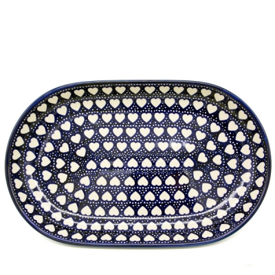 Polish Pottery Oval Serving Platter - Pattern Adelheid - Kopie