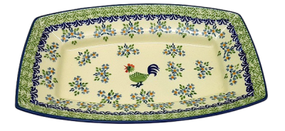 Polish Pottery serving dish 28 Bianca design