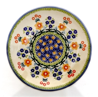 Polish-Potter-side-plate-polka-design