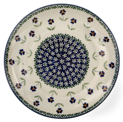 Polish Pottery dinner plate Angelika pattern