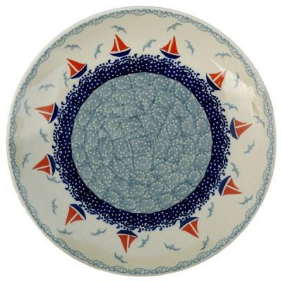 Polish Pottery Dinner Plate - Pattern Sail