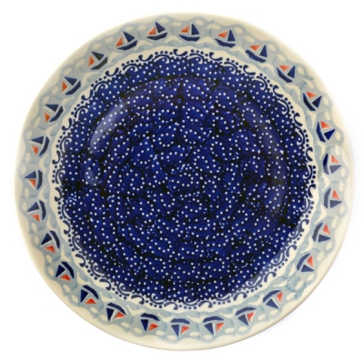 Polish Pottery Dinner Plate - Pattern Ahoi