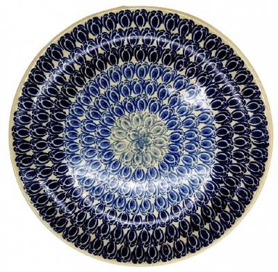 Polish Pottery Dinner Plate - Pattern Lotte
