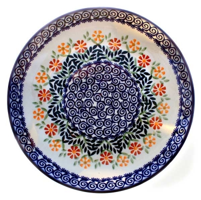 Polish Pottery Dinner Plate - Pattern Adelheid