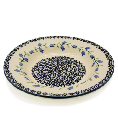 Polish Pottery Soup Plate - Pattern Agnes