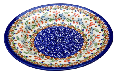 Polish Pottery soup plate Florac design