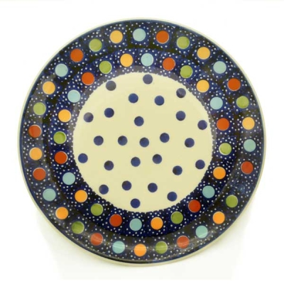 Polish Pottery Breakfast Plate - Pattern Konfetti