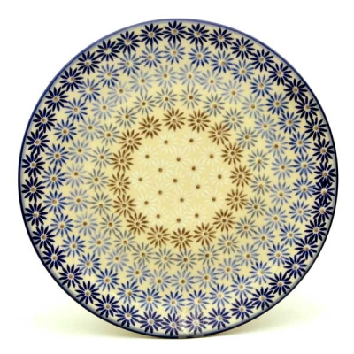 Polish Pottery Breakfast Plate in Pattern Aster
