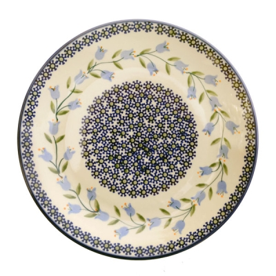 Polish Pottery Breakfast Plate - Pattern Agnes