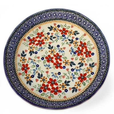 Polish Pottery side plate Cornelia pattern
