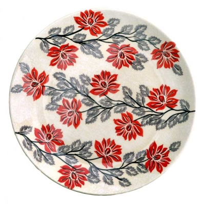Polish Pottery Side-plate - Pattern Angela